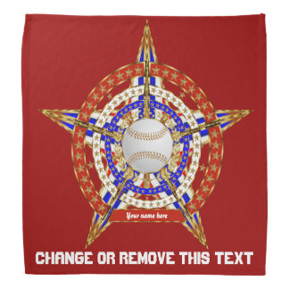 Baseball 2 ADD Your Name Change Text View My Notes Bandana