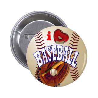 Baseball 6 Cm Round Badge
