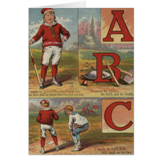 Baseball ABC Card