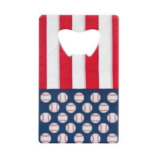 Baseball & American flag bottle opener