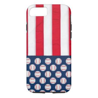 Baseball & American flag phone case
