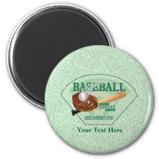 Baseball – Americas Favorite Sport Design 6 Cm Round Magnet
