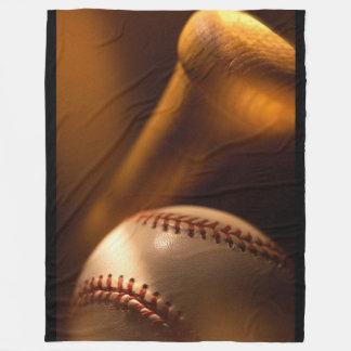 Baseball and Bat Fleece Blanket