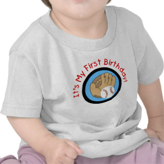 Baseball and Glove 1st Birthday Tshirts and Gifts