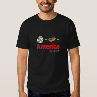 Baseball and Hot dogs = America's game! Shirt