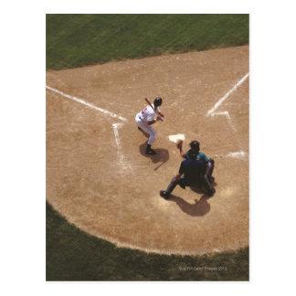 Baseball at Home Plate Postcard