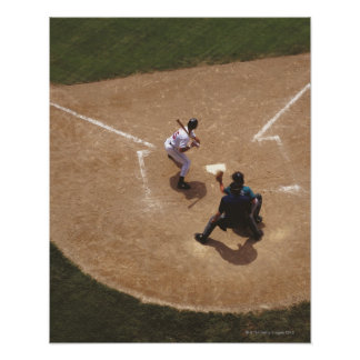 Baseball at Home Plate Poster