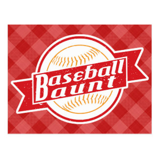 Baseball Aunt Post Cards