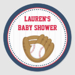 Baseball Baby Shower Favour Tag Stickers