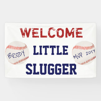 Baseball Baby Shower Welcome Banner