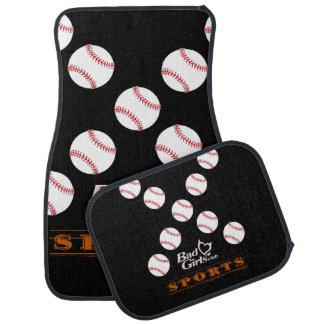 Baseball bad girls car floor mats