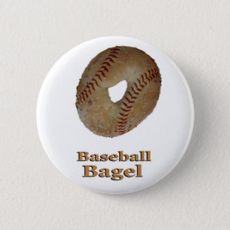 Baseball Bagel 6 Cm Round Badge