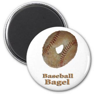 Baseball Bagel 6 Cm Round Magnet
