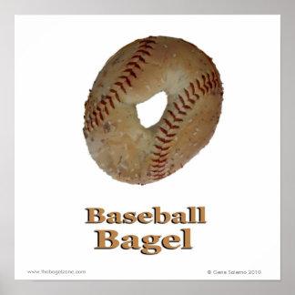 Baseball Bagel Poster