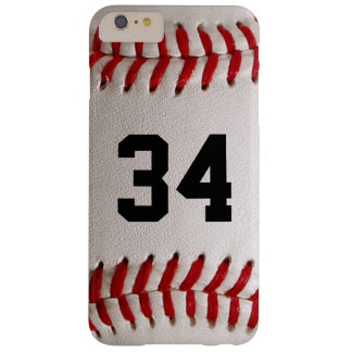 Baseball Ball and Number Barely There iPhone 6 Plus Case
