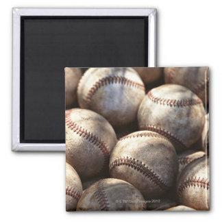 Baseball Ball Square Magnet