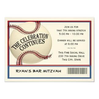 Baseball Bar Mitzvah Celebration Card