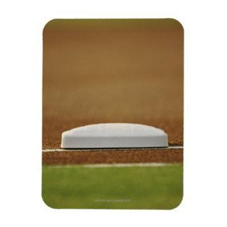 Baseball base rectangular photo magnet
