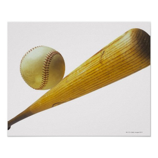 Baseball bat and ball print