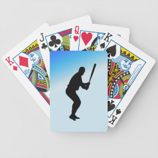 Baseball Batter Blue Sports Bicycle Playing Cards