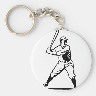 Baseball Batter Key Ring