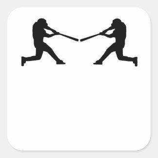 Baseball Batter Mirror Image Square Sticker