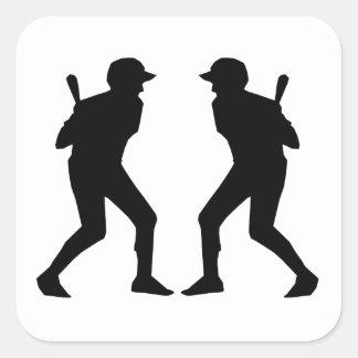 Baseball Batter Mirror Image Sticker
