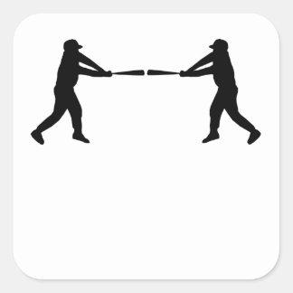 Baseball Batter Mirror Image Stickers