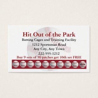 Baseball Batting Cage Sports  Loyalty Punch Card