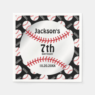 Baseball Birthday Design | Personalize Disposable Serviette
