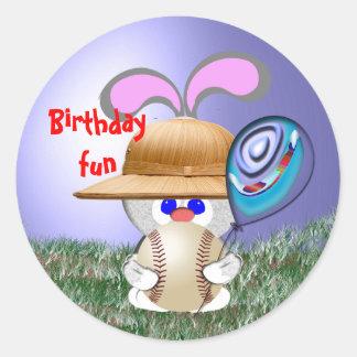 Baseball Birthday Fun Sticker