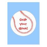 Baseball Birthday Party Invitations on postcards