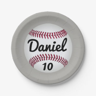 Baseball birthday Party plates 7 Inch Paper Plate