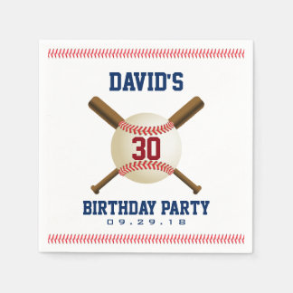 Baseball Birthday Party Sports Theme Paper Serviettes