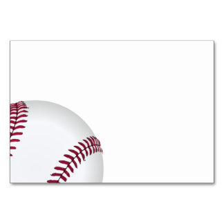 Baseball Birthday Party Supplies Table Cards