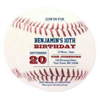 Baseball Birthday Round Invitation