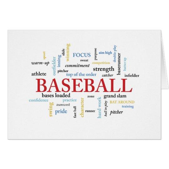 Baseball Birthday with Words Card