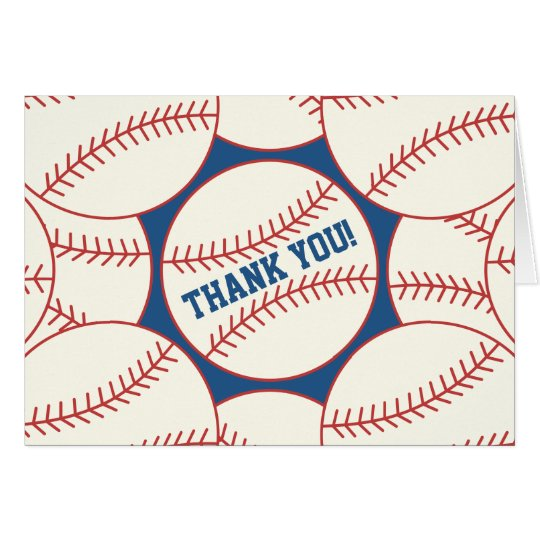 Baseball Blank Note Card
