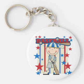 BASEBALL Blond Boy Tshirts and Gifts Keychain