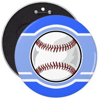 Baseball Blue Pinback Buttons