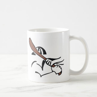 baseball  brown bat basic white mug