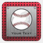 Baseball; Brushed Aluminium look