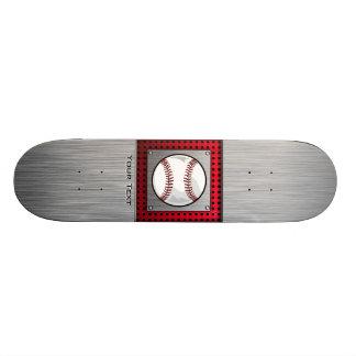 Baseball; Brushed Aluminum look Skateboard