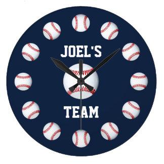 Baseball Burgundy Premium Full Color Wall Clock