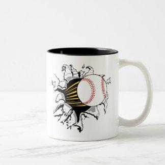 Baseball Burster Coffee Mugs