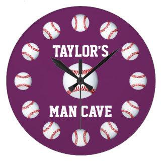 Baseball Byzantium Top Monochromatic Wall Clock