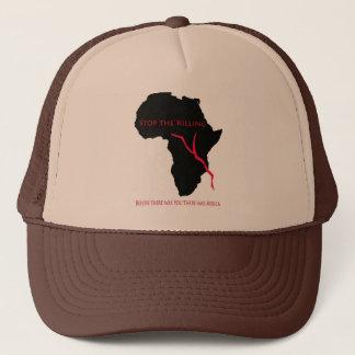 Baseball Cap    Africa Map- Blood