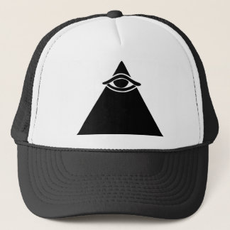 Baseball cap with all seeing eye