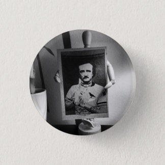 Baseball Card of Edgar Allan Poe Button