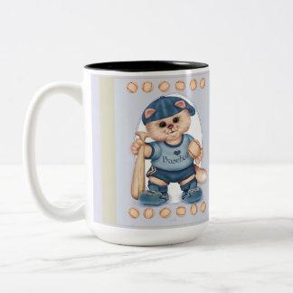 BASEBALL CAT CUTE FUN Two-Tone Mug 3